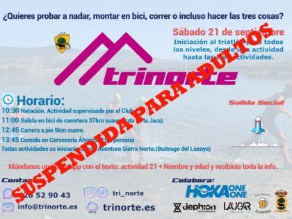 Iniciación al triatlón para adultos suspendida – Salida social